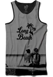 Camiseta Long Beach Regata Casal Sublimada Masculina - Masculino-Cinza 70e22aefcb9