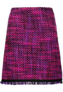 Escada Sport Woven Tweed Skirt - Rosa