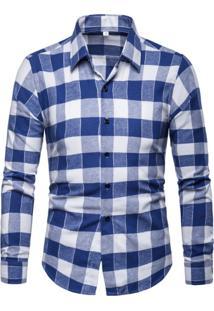 Camisa Xadrez Glasgow - Azul