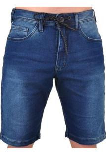 Bermuda Lost Relaxed Special Washed Masculina - Masculino-Azul