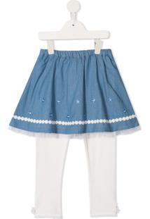 Miki House Saia Em Camadas - Azul