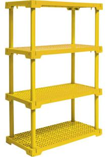 Estante Cube Com 4 Prateleiras Amarelo