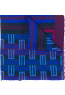 Etro Cachecol Com Logo - Azul