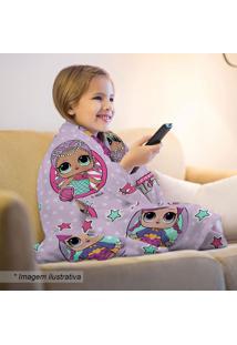 Manta Fleece Lol®- Lilás Pink- 125X150Cm- Lepplepper