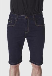 Bermuda Hno Jeans Amaciada Masculina - Masculino-Azul