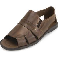 84eed2973 Sandália Cafe Marrom masculina   Shoes4you