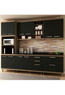 Cozinha Completa New Vitoria 17 Avelã Tx/Onix - Hecol