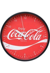 Relógio De Parede Coca-Cola®- Vermelho & Branco- Ø22Urban