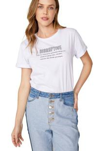 Amaro Feminino T-Shirt Disruptive, Branco