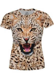 Camiseta Estampada Baby Look Over Fame Onã§A - Bege - Feminino - Poliã©Ster - Dafiti