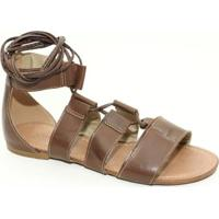 ca717d950 Sandália Top Franca Shoes Gladiadora - Feminino-Marrom