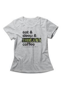 Camiseta Feminina Programmer Cinza