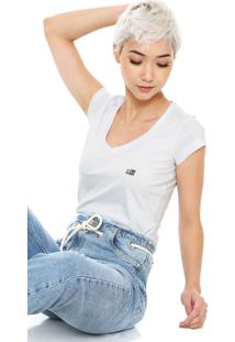 Camiseta Ellus 2Nd Floor Logo Branca