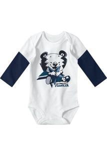 Body Bebê Tigor T. Tigre Masculino - Masculino-Branco