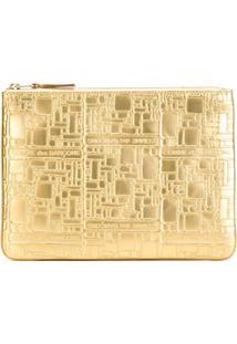 Comme Des Garçons Wallet Bolsa Carteira Modelo 'Embossed Logo' - Metallic