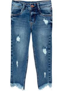 Calça Jeans Infantil Menina Skinny