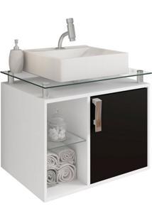 Gabinete De Banheiro Porto 1 Pt Branco E Preto