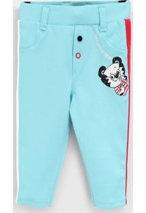 Calça Tigor T. Tigre Infantil Estampa Azul