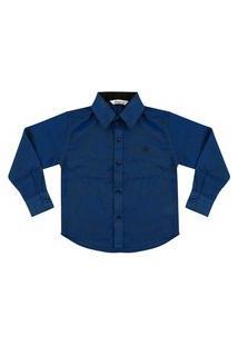 Camisa Look Jeans Clássica Azul