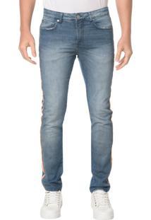 Calça Jeans Five Pocktes Slim Ckj 026 Slim - Azul Claro - 40