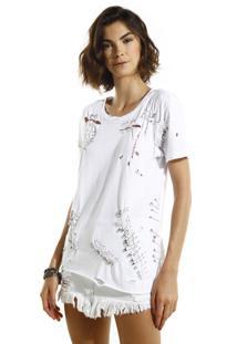Camiseta John John Amy Malha Off White Feminina (Off White, G)