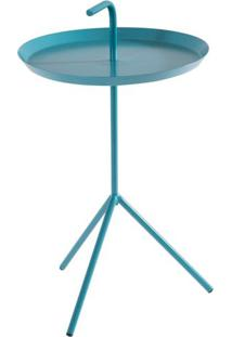 Mesa Apoio Handle Azul Turquesa Aco 41 Cm (Larg) - 41575 - Sun House