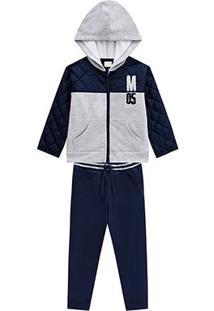 Conjunto Infantil Milon Jaqueta E Calça Masculino - Masculino-Mescla