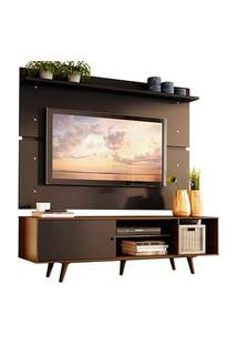 Rack Madesa Dubai E Painel Para Tv Até 65 Polegadas Com Pés Rustic/Preto 7Kd8 Cor:Preto/Rustic