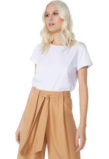 Amaro Feminino T-Shirt Cropped Sustentável, Branco