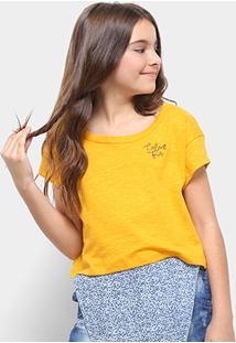 Camiseta Infantil Colcci Cropped Feminina - Feminino