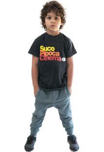 Calça Infantil Comfy Saruel Masculino - Unissex-Azul