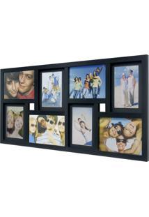 Painel De Fotos Fine 34X66 4 Fotos 10X15 E 4 Fotos 13X18 Preto Kapos