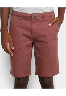 Bermuda Sarja Calvin Klein Alfaiataria Masculina - Masculino-Bordô