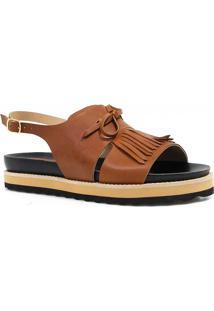 Sandália Zariff Shoes Rasteira Barbicacho Marrom