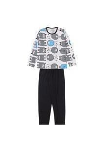 Pijama Infantil Masculino Preto Monstrinho Kappes