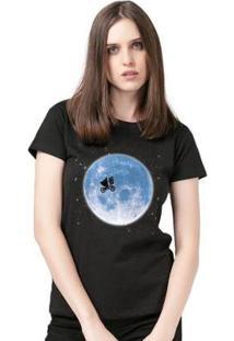 Camiseta E.T. And The Moon Feminina Oficial - Feminino