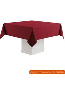 Toalha De Mesa Retangular Sienna Vermelha