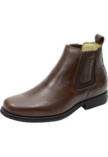 Botina Ultra Gel Flex Atron Shoes - 453 Couro Café