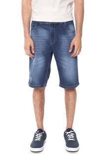 Bermuda Jeans Red Nose Reta Estonada Azul