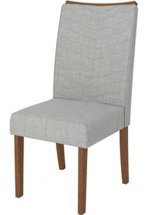 Cadeira Serena 2 Peças - Rústico Terrara Com Linho Claro
