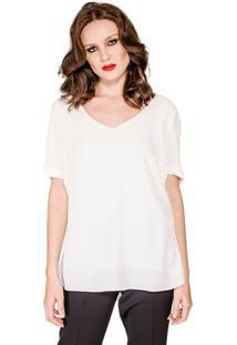 Blusa Decote V Modeladora feminina  af7d9fe8fc8a2