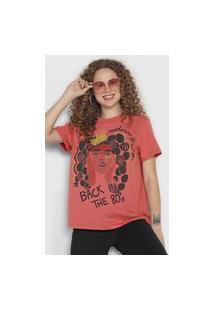 Camiseta Colcci 80'S Rosa