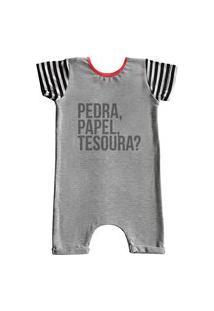 Pijama Curto Comfy Pedra, Papel Tesoura?