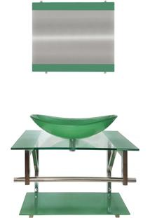 Gabinete De Vidro Para Banheiro Irlanda Verde Oliva Ekasa
