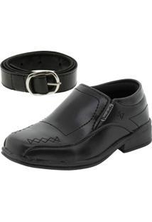 Sapato Infantil Masculino Preto Passobelle - 5010