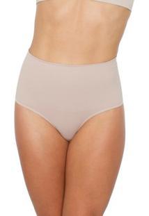 Calcinha Cavada Modeladora - Feminino-Nude