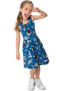 Vestido Azul Royal Frozen® Cotton