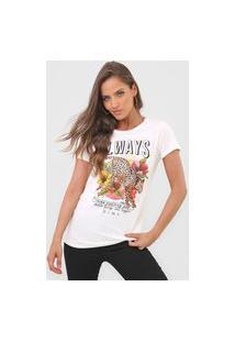 Camiseta Dimy Always Onça Off-White