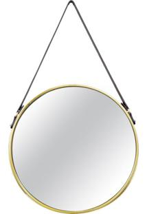 Espelho Redondo Decorativo 46 Cm Dourado