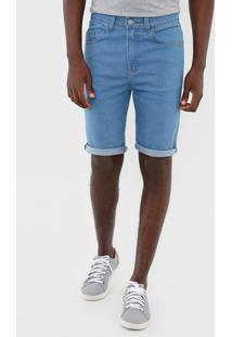 Bermuda Jeans Polo Wear Reta Bolsos Azul - Azul - Masculino - Algodã£O - Dafiti